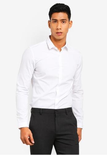 Topman 白色 White Slim Smart Shirt 9F292AA98A3477GS_1