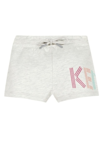 KENZO KIDS grey and multi KENZO BABY GIRLS SHORTS 487EBKACE9F97CGS_1