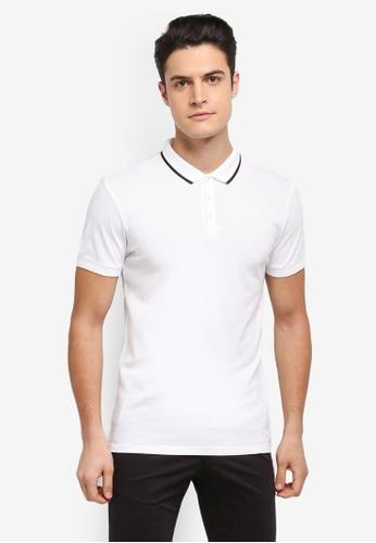 Selected Homme white Nilo Polo Shirt C6EBEAA9002473GS_1