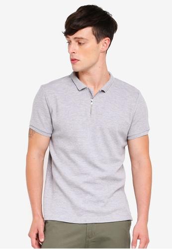 Brave Soul 灰色 短袖POLO衫 60D6DAA6CC630CGS_1