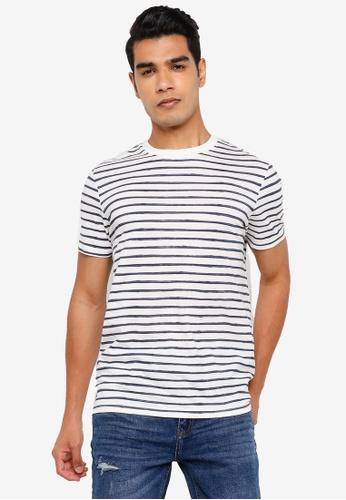 Springfield blue Stripy T-Shirt 09F79AADC9AFA4GS_1