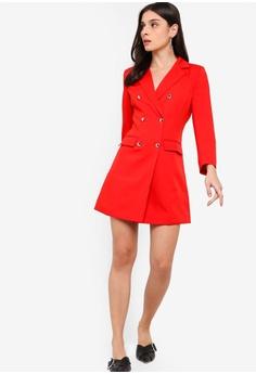 be004fd32f 15% OFF ZALORA Double Breasted Blazer Dress RM 135.00 NOW RM 114.90 Sizes XS  S M L XL