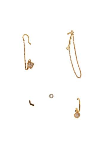 Mango gold Piercing Pack Earrings 20E10AC630E4A4GS_1