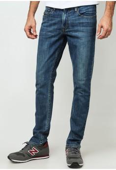 Vintage Wash Denim Pants