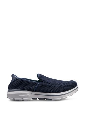UniqTee 藍色 輕巧帆布懶人運動鞋 CCA67SH5D73326GS_1