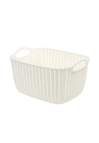 HOUZE white HOUZE - Braided Storage Basket with Handle (Medium: 29x22.5x16.5cm) 03363HL172B6DCGS_1