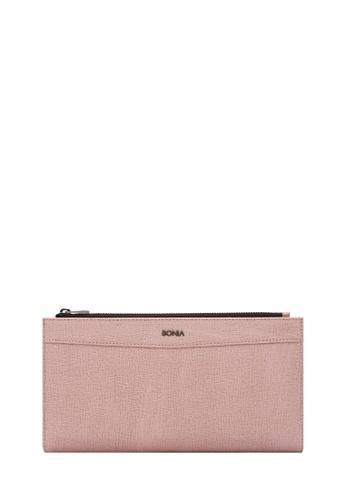 BONIA pink Blush Pink Betsy Long Two Fold Wallet 88E29AC0713563GS_1