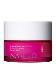Naruko Rose and BOTANIC HA Aqua Cubic Cream 60g Free 1x Tea Tree Clay Mask & Cleanser In 1 20g