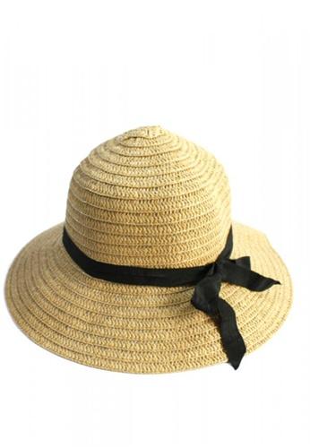 Shop HEY SWEETY Straw Round Hat Online on ZALORA Philippines 3a7393680b0