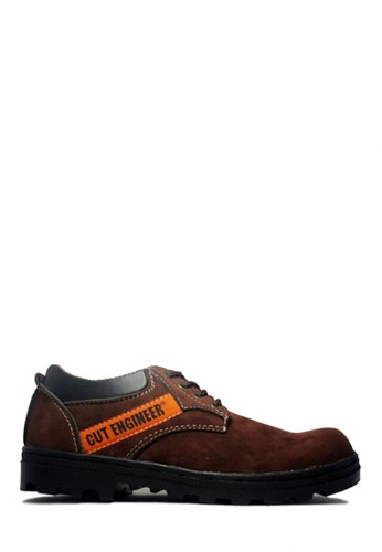 Cut Engineer brown Cut Engineer Safety Shoes Low Boots Classic Dark Brown 8C4ADSHD4320C0GS_1