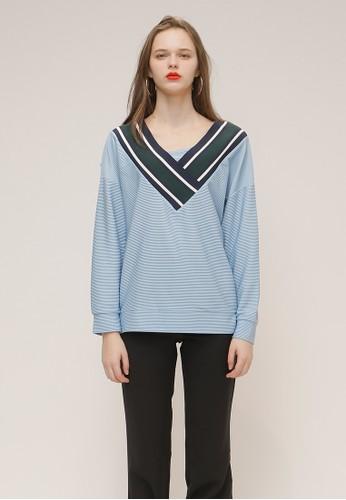 休閑v領t恤衫, 服飾, Tesprit china恤