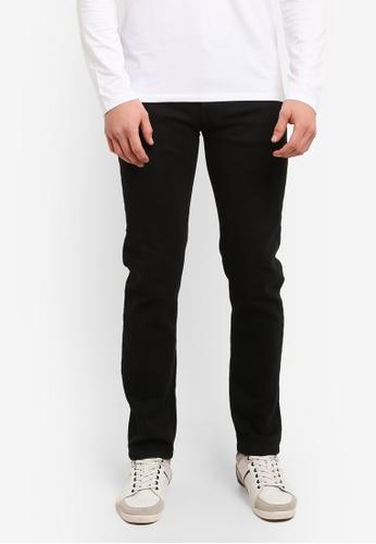 Fidelio black 430 Slim Straight Stretchable Denim Jeans FI826AA0S9RIMY_1