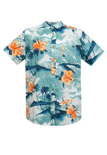 Billabong blue Sundays Floral Short Sleeve Shirt 37BEBAA5E695ABGS_1