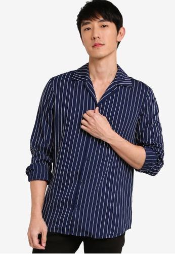 ZALORA BASICS multi Revere Collar Long Sleeve Shirt F5297AA7402F37GS_1