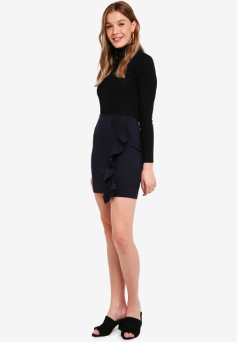 The Fifth Label blue and navy Ultraviolet Skirt 00394AAFA295FEGS_1