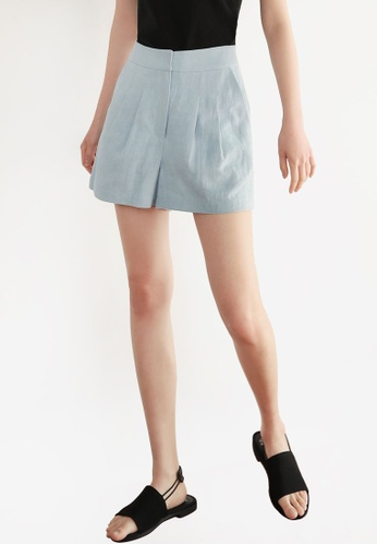 NAIN blue Linen Shorts 46CD0AA49789ECGS_1