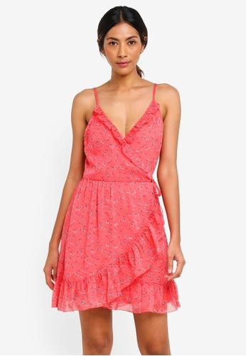 Abercrombie & Fitch red Red Chiffon Ruffle Wrap Dress 6FD45AA8ACF631GS_1