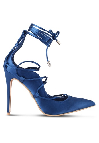 LOST INK blue Pash Strappy Curved Court Heels LO238SH0SZ3CMY_1
