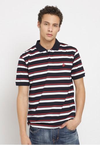 Osella navy Osella Baju Pria Polo Shirt Navy Stripe White 33DB3AA308552EGS_1