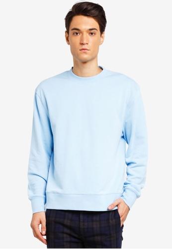 Buy Zalora Topman Blue Light Classic Online Malaysia Sweatshirt qOHvq