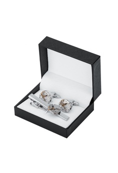 9d8b61a3620 39% OFF Kings Collection Mechanical Movement Watch Tie Clip Cufflinks Set  S  99.00 NOW S  59.99 Sizes One Size