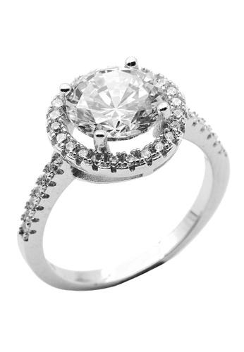 Elfi silver Elfi 925 Genuine Silver Engagement Ring P78 – Forever Dream E6266ACB7DDA36GS_1