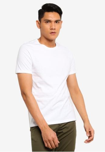 Burton Menswear London white Short Sleeves Basic Crew White T-shirt 9A8D0AAE9047FCGS_1