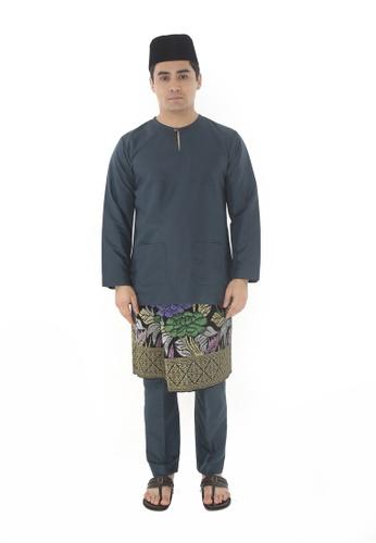Amar Amran green Baju Melayu Teluk Belanga 31C62AABB34F94GS_1