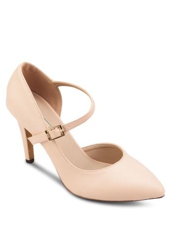 撞色繞踝尖頭高跟鞋, 女鞋, esprit鞋子鞋