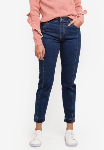 Cotton On blue Mid Rise Grazer Skinny Jeans 1E475AACB1DA6AGS_1