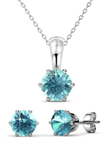 Her Jewellery blue Birth Stone Set (December) - Made with premium grade crystals from Austria BF2BFAC677BDCCGS_1