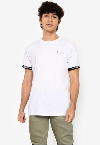 Jack & Jones white Finn Short Sleeves Tee 93CCCAA837286AGS_1