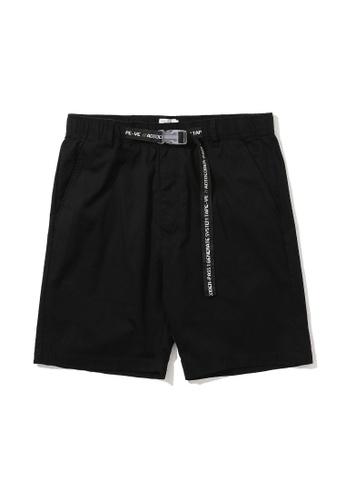 izzue black Buckle waist shorts C4B1DAA58A22EBGS_1