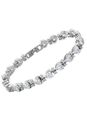 Vivere Rosse silver Lovey Dovey Diamond Simulant Bracelet VI014AC20ICDMY_1