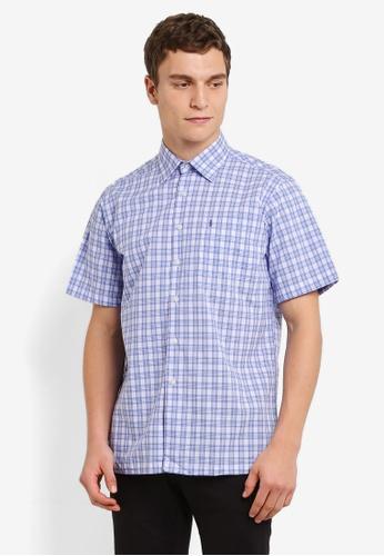 BGM POLO 多色 Checkered 短袖襯衫 BG646AA0S0KOMY_1