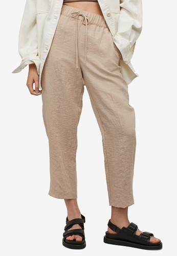 H&M beige Ankle-Length Trousers 71B29AA07F7688GS_1
