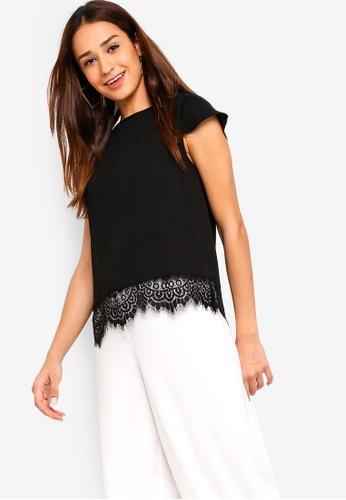 ZALORA black Lace Hem Top AE0C2AAA289706GS_1