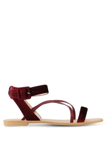 ZALORA red Multi Strap Sandals 77932SHA3E8EF8GS_1