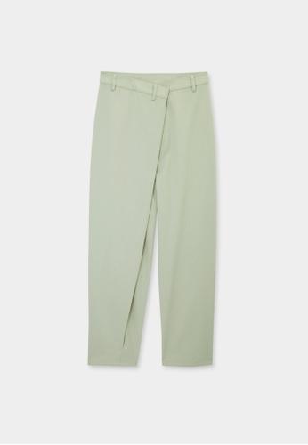 Pomelo green Sustainable Asymmetric Pants - Green BE20BAA4F941E9GS_1