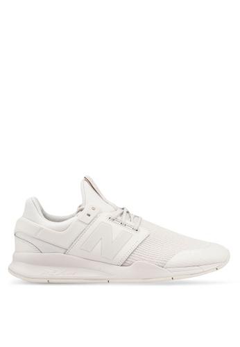 New Balance white 247 Lifestyle Shoes 3E7D2SH0405FEDGS_1