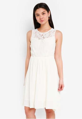 ICHI beige Amour Dress DBE09AA1AD1E8FGS_1