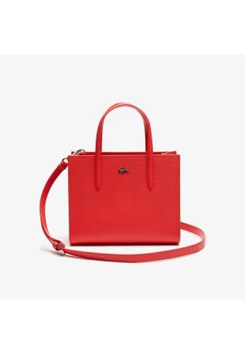 Lacoste Lacoste Women's Chantaco Dual Carry Piqué Leather Zip Tote Bag NF2562CE B702EAC57EDF3BGS_1