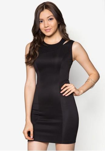 挖肩貼身連身裙, 服飾, 派對洋zalora 包包評價裝