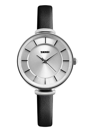 Digitec black Skmei - Jam Tangan Wanita - Silver - Black Leather Strap - 1184-B DI108AC47WKUID_1