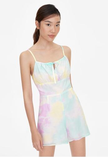 Pomelo purple Pastel Tie Dye Print Romper - Purple 37D84AA704A509GS_1