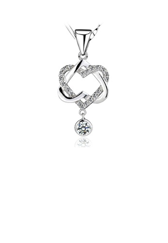 Glamorousky silver 925 Sterling Silver Heart Shaped Pendant with Necklace 6AFACAC2DD6177GS_1
