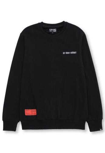 izzue black Graphic print sweatshirt C40E3AA8187232GS_1
