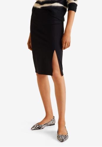 Mango black Vent Mini Skirt D2534AA0A993E8GS_1