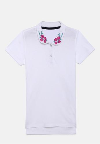 ZALZA white Amy Girls Polo Tee 100% Organic cotton - White 2BA2EKA8BC7EFAGS_1