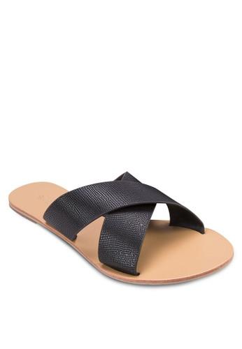Mazalora 心得 pttiden 鵝卵紋交叉帶涼鞋, 女鞋, 鞋